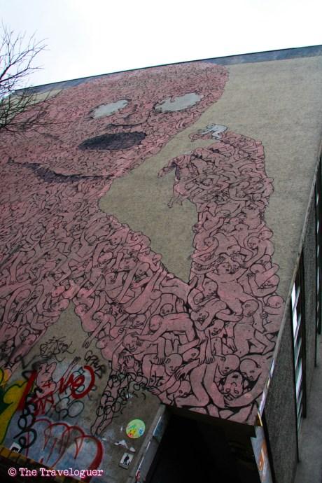 Blu's Monster - Street Art in Berlin - thetraveloguer.com