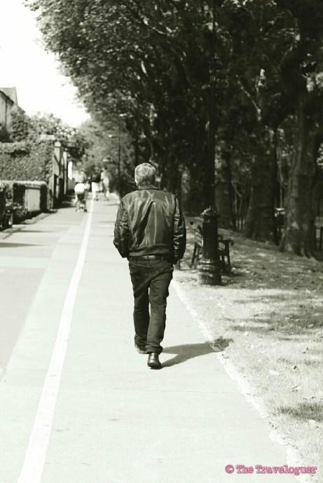 Man Walking in Dublin, monochrome monday, the traveloguer.com