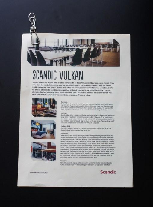 Scandic Vulkan hotel brochure - the traveloguer