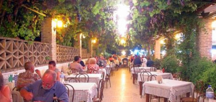 The Mantalena Restaurant in Alykanas on Zakynthos in Greece