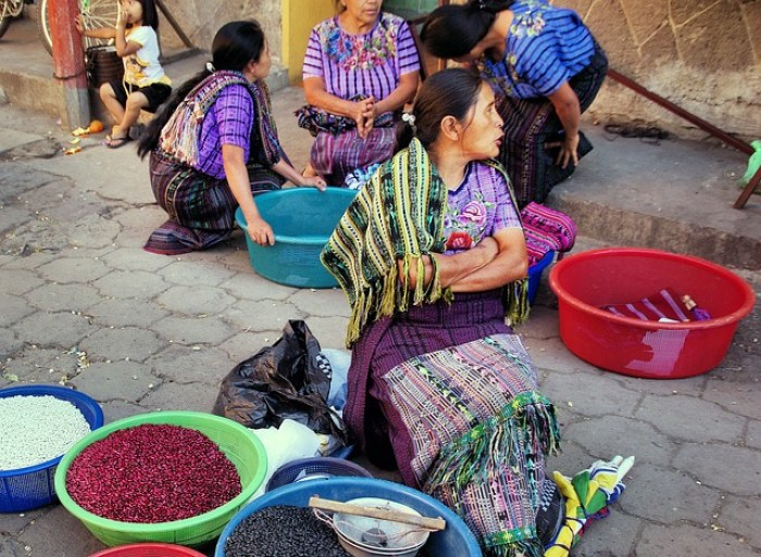 In the market in Chichicastenango, Guatemala