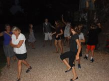 We got into the spirit of the local culture of the village we were visiting and accepted an after-dinner invitation to learn to dance.