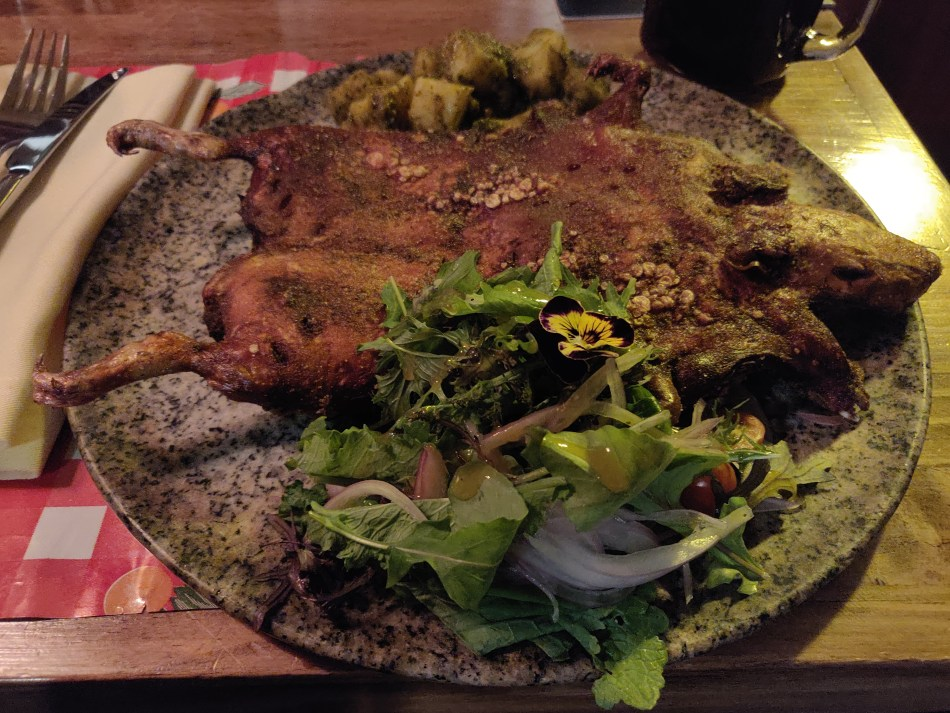 Cooked Guinea Pig, Cuy, a local delicacy in the culture of Peru