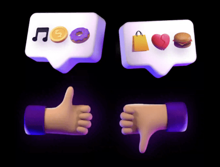 NewNew social media app with like or dislike thumbs