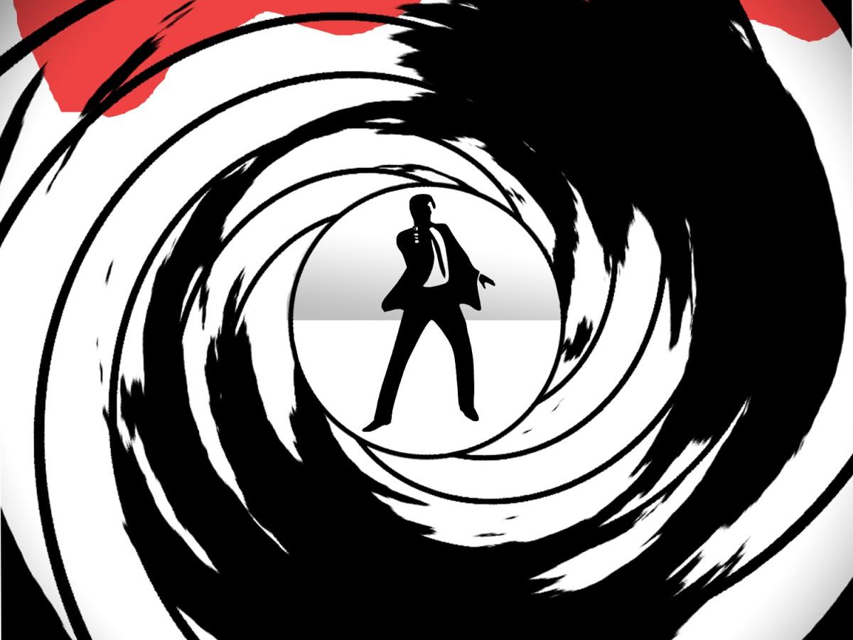 James Bond shooting the target