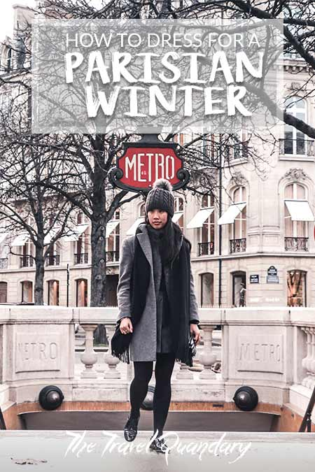 Pin Photo: How To Dress In Winter In Paris