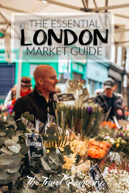 A florist at Columbia Flower Markets, London, United Kingdom