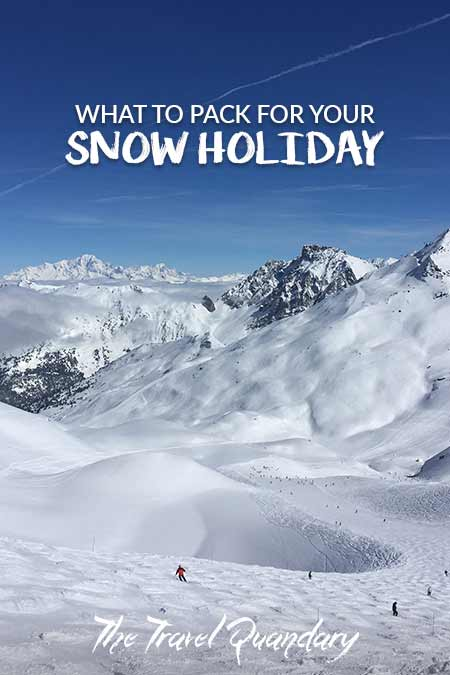 What To Pack For Your Snow Holiday| Pinterest Board