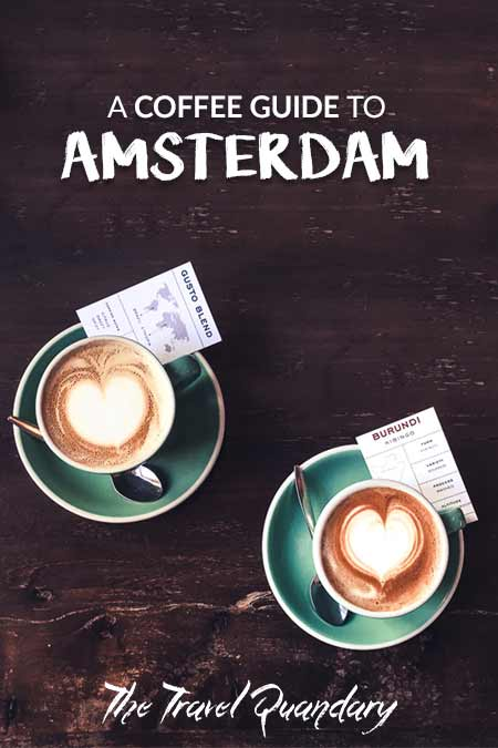 Best Coffee in Amsterdam   Two regular white coffees at Bocca Coffee, Amsterdam, The Netherlands