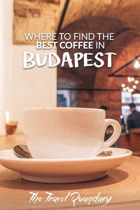 A latte at Espresso Embassy, Budapest, Hungary
