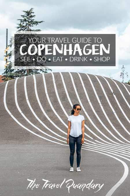 Pin Photo: Jasmine of The Travel Quandary standing in Superkillen Park, Copenhagen, Denmark