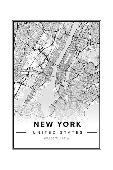 Mapiful New York Map - Gift Guide Modern Traveller