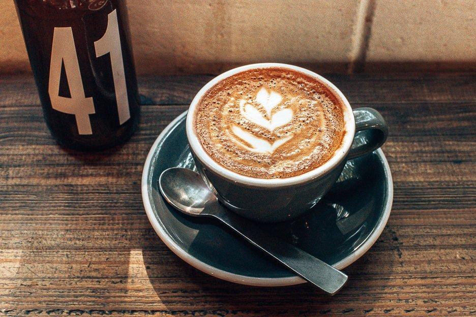 Double flat white at Fonzie Abbott Coffee Roasters, Specialty Coffee in Brisbane northside