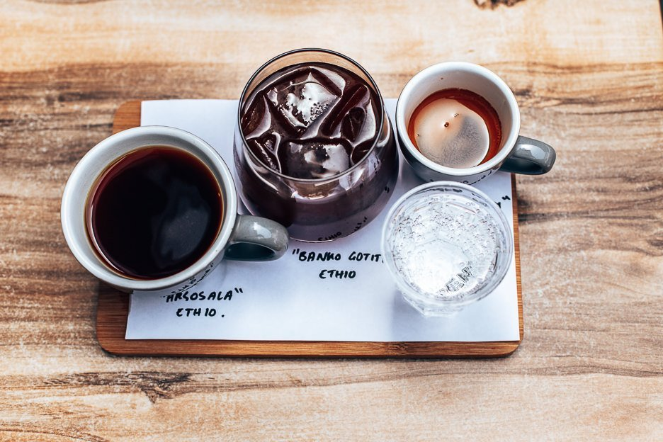 Penny Black Coffee Flight at Penny Coffee Co, Specialty Coffee in Brisbane Southside