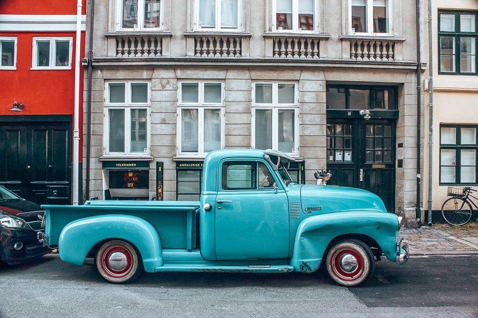 Blue truck - Copenhagen City Guide, Denmark
