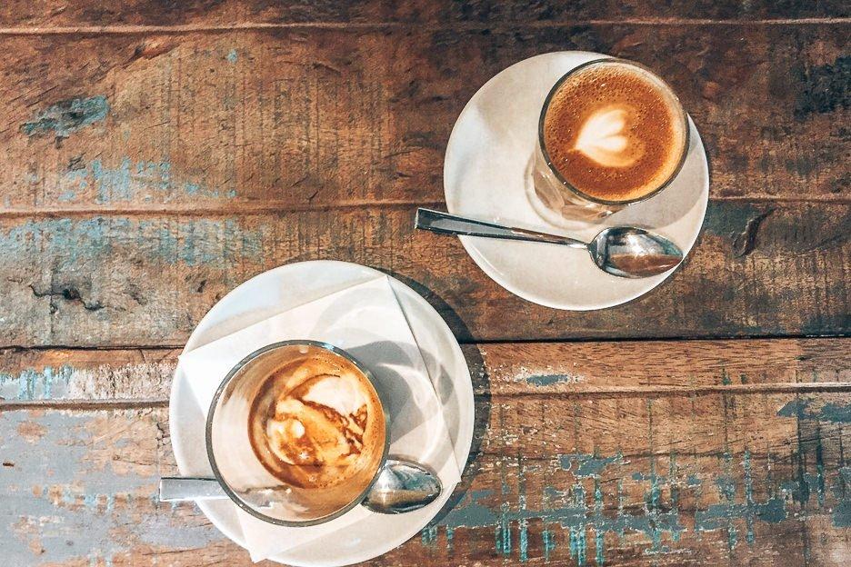 Latte & affogato at Můj šálek kávy, Prague