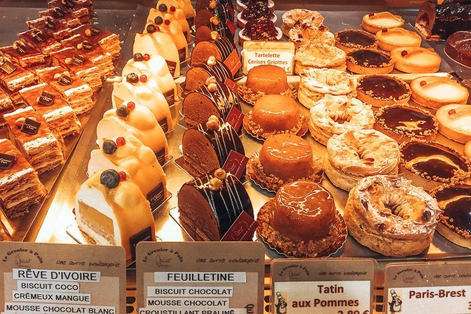 Delicious treats at Le Grenier A Pain, Patisseries in Paris