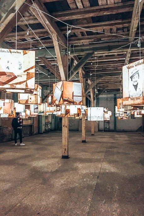 3000 fates lantern exhibition at the Riga Ghetto and Latvia Holocaust Museum