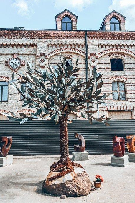 Peace Tree at the Riga Ghetto and Latvia Holocause Museum