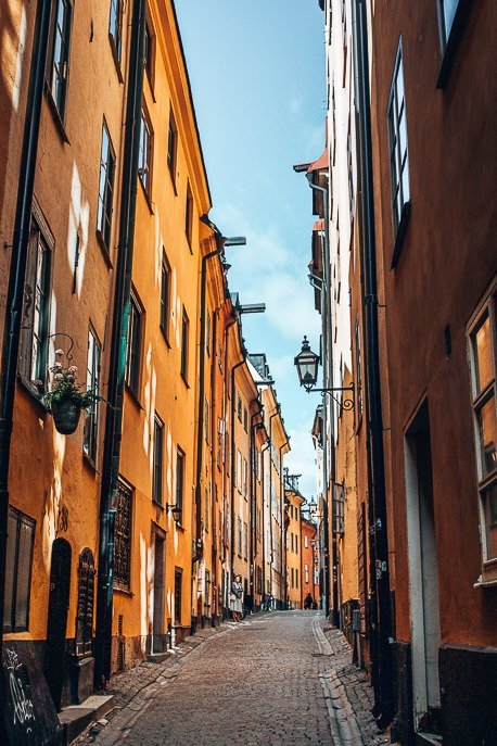 Colourful laneways of Stockholm - Sweden