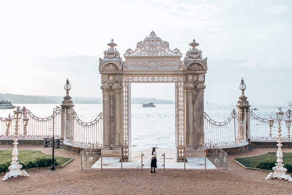 Gate at Dolmabahce Palace - Istanbul City Guide, Turkey