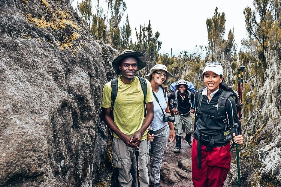 Day 2 along the Machame Route in 7 days
