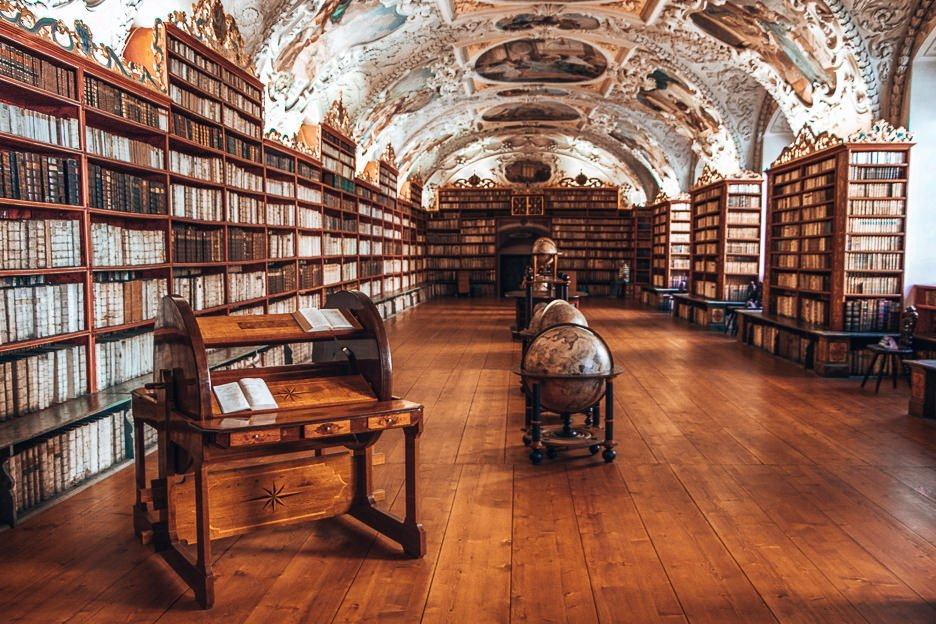 Interiors of the Theological Hall of Strahov Monastery, Prague