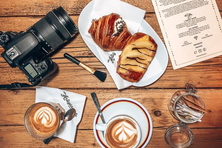 Pastries & coffee at Ditta Artigianale, Florence