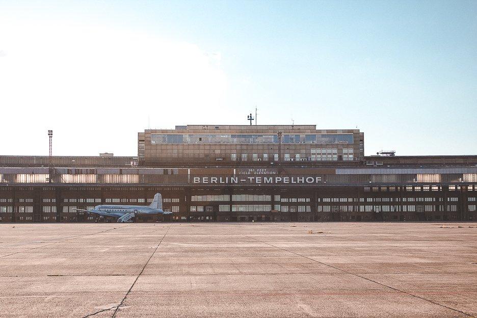 Olf airport terminal in Tempelhofer Feld, Berlin