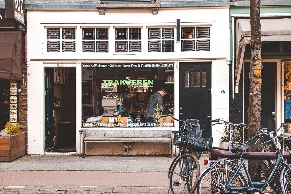 Shop front of Trakteren, Amsterdam