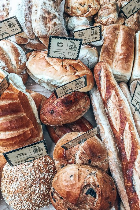 Freshly baked bread at Oval Farmers Market, London Market Guide