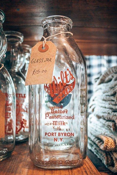 Vintage bottles at Portobello Road Market, London Market Guide