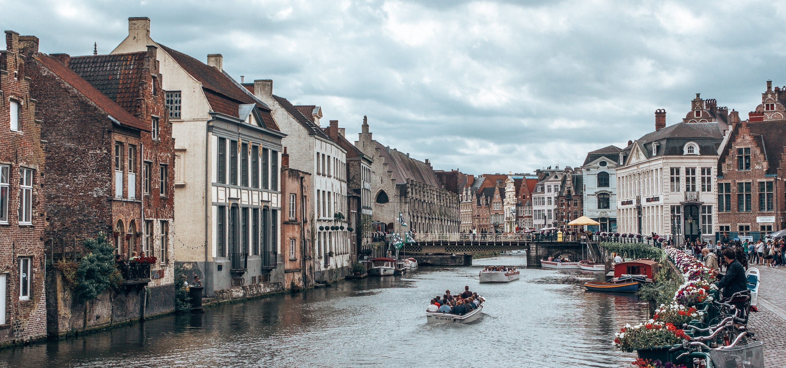 The canals of Ghent, Belgium