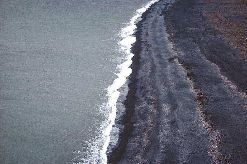 Coastal views near the seaside township of Vík, Iceland