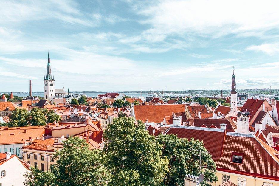 The view over Tallinn city from Kohtuotsa lookout, Tallinn