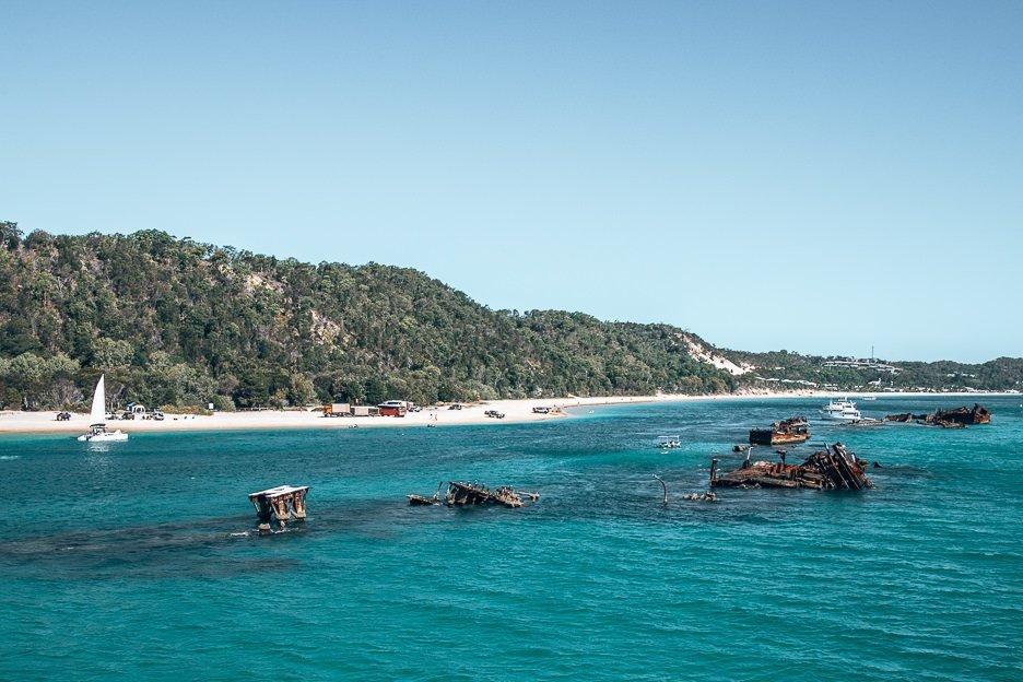 Tangalooma shipwrecks at Moreton Island
