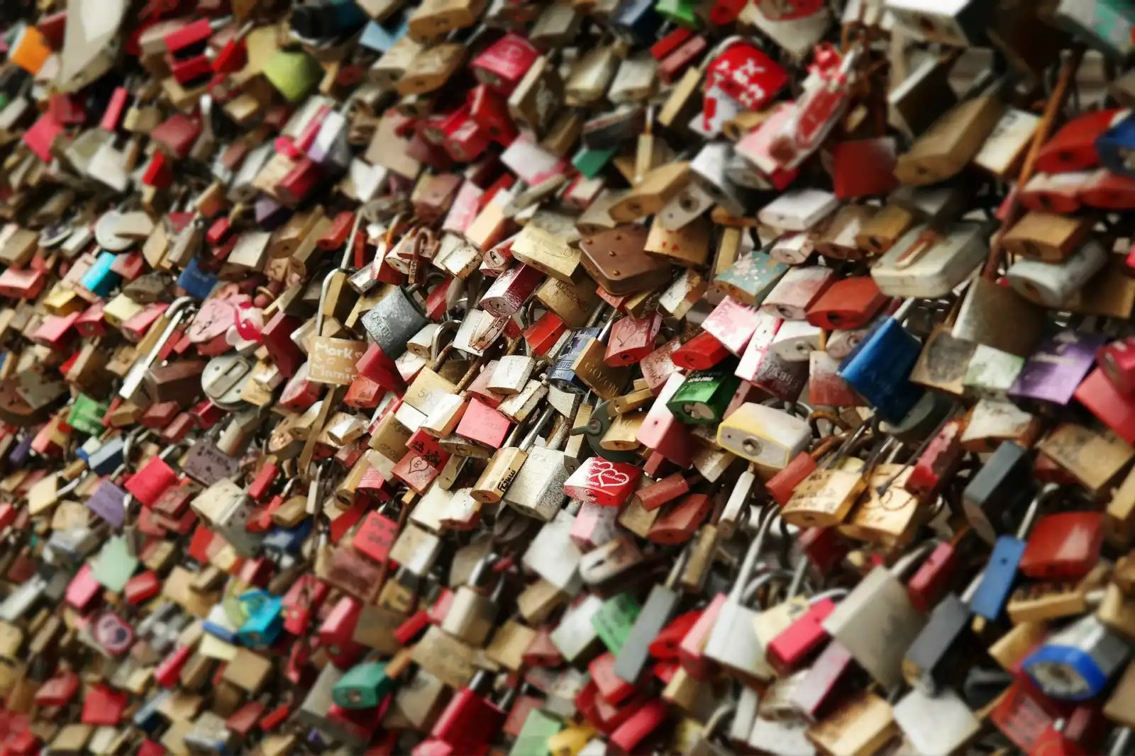 love locks on the Hohenzollern bridge