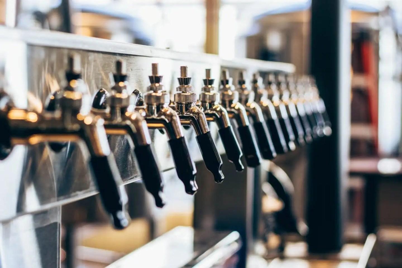Beer Taps in Koln Brauhaus