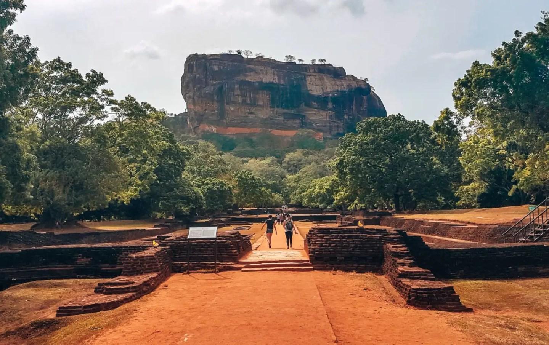 The imposing Sigiriya Rock, Sri Lanka
