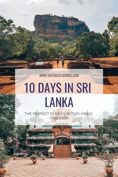 Pinterest pin for Sri Lanka itinerary