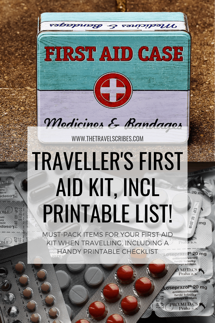 graphic regarding Printable First Aid Guides named A travelers toolkit the excellent 1st assist package - The