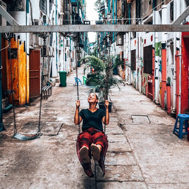 Yangon Street Art Swing