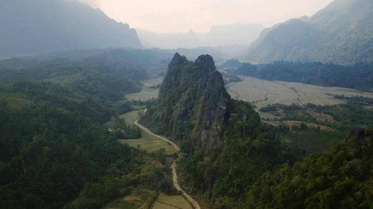 Nam Xay viewpoint in Vang Vieng