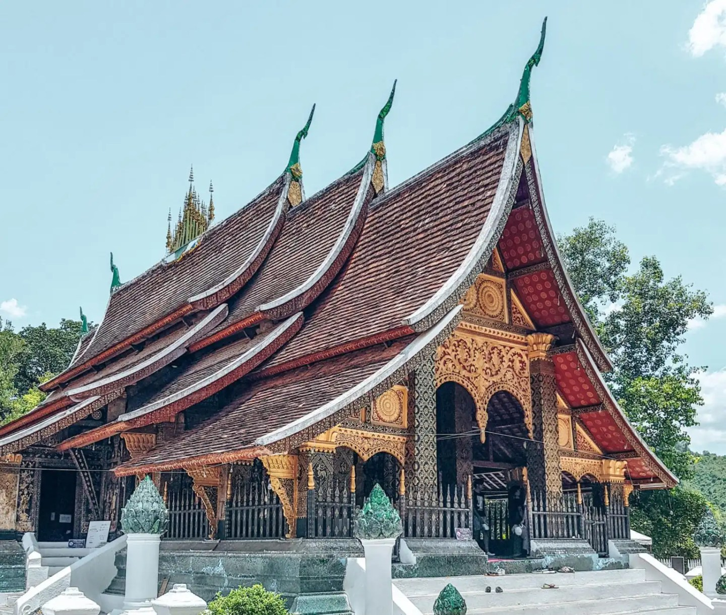 The stunning temple at Xieng Thong, Luang Prabang Laos