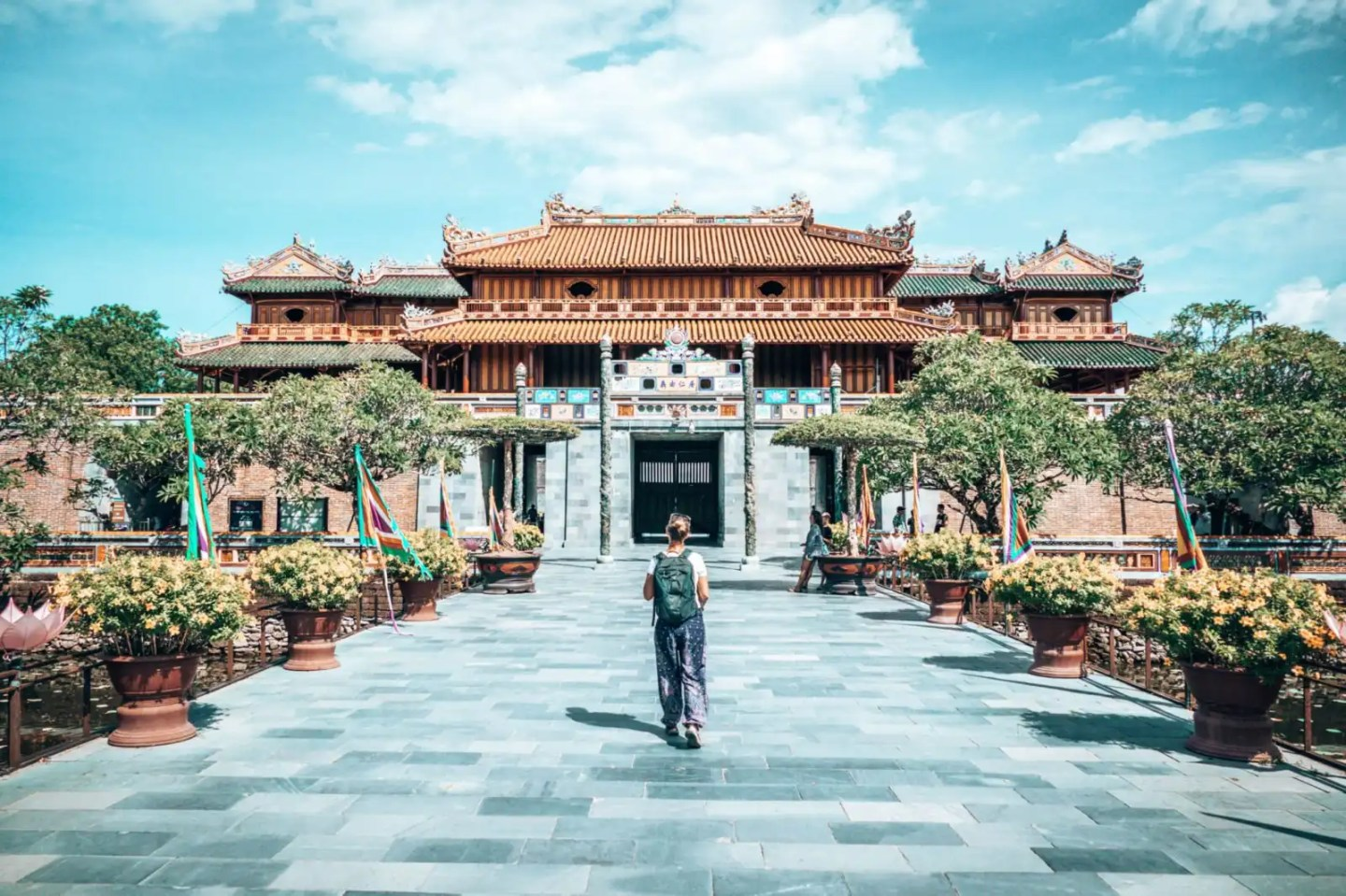 Picture of girl in Imperial City, Hue, Vietnam