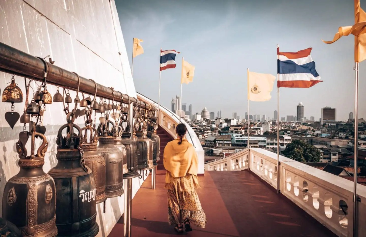 Picture of girl at the Mount Temple in Bangkok Thailand