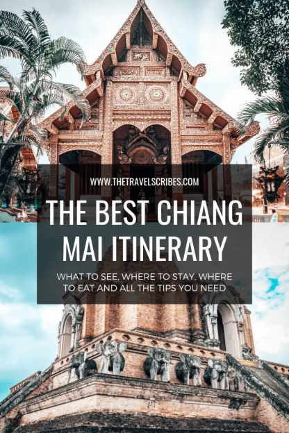 Pinterest Graphic for Chiang Mai itinerary
