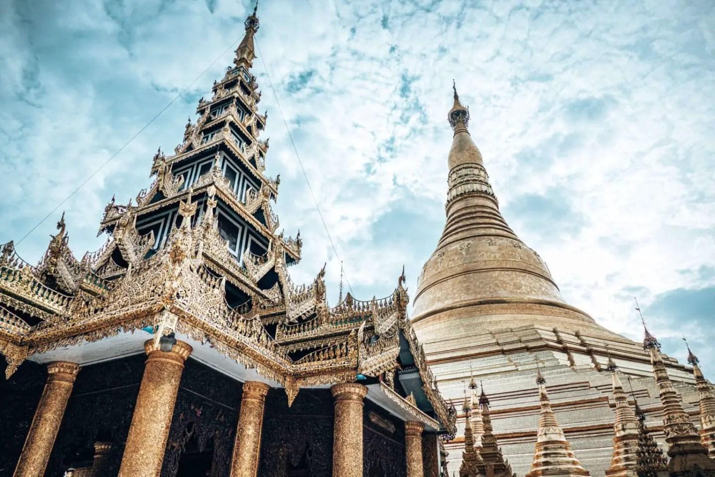 Picture of the Schwedagon Pagoda in Yangon Myanmar