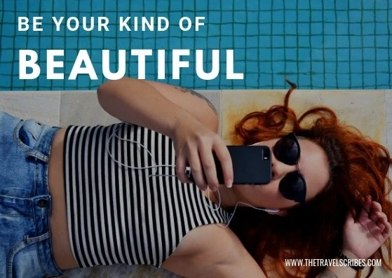 Cute captions for pictures of yourself - Graphic for Be your kind of beautiful