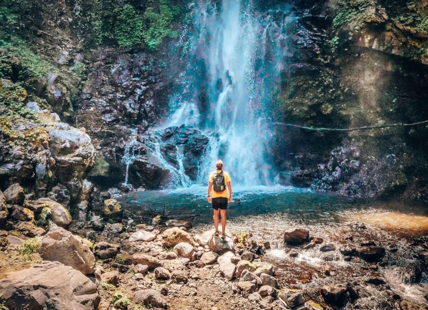James at Melanting Waterfall in Munduk Bali Indonesia